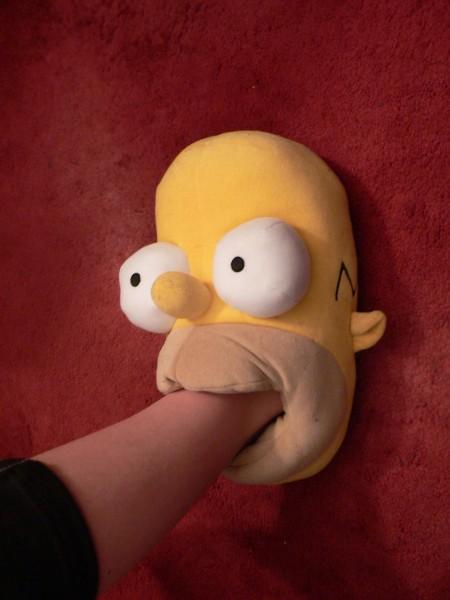 Homer simpson slipper