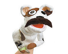 Sockpuppet with mustache
