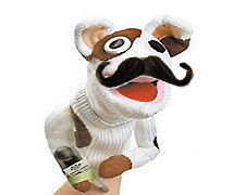 Sockpuppet with CURLY mustache