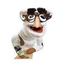 Sockpuppet with Groucho glasses