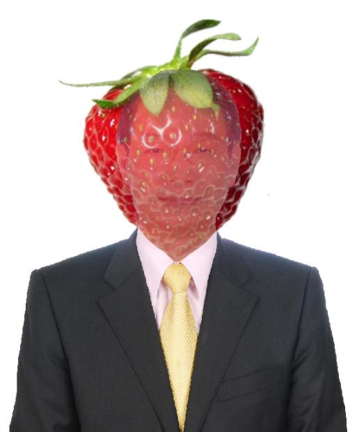Lu Hsueh-chang, otherwise known as Lu Xue Zhang (呂學樟), as a human strawberry