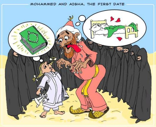 The 'prophet' Mohammed lusting over 9 year-old Aisha