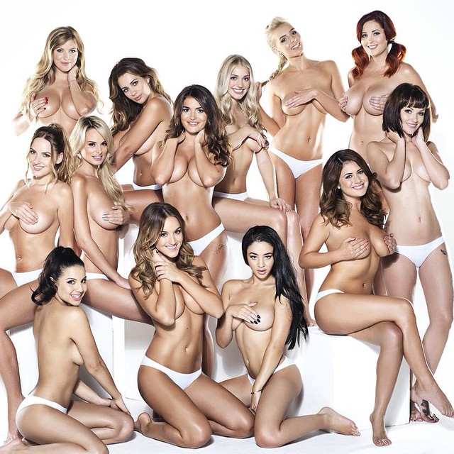 Twelve topless 'Page 3' girls