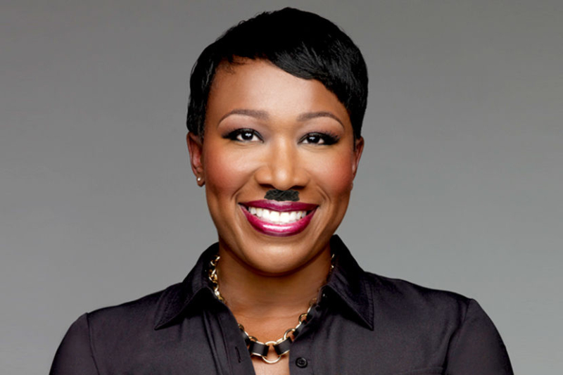 Nazi Joy Reid with Hitler mustache