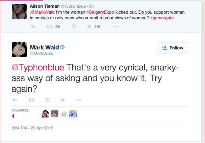 Mark Waid: misogynist